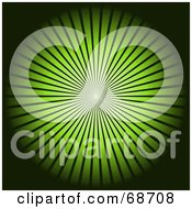 Royalty Free RF Clipart Illustration Of A Black Background With A Bright Green Burst