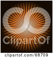Royalty Free RF Clipart Illustration Of A Black Background With A Bright Orange Burst