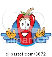Clipart Picture Of A Chili Pepper Mascot Cartoon Character Logo