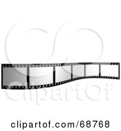 Royalty Free RF Clipart Illustration Of A Blank Film Strip Standing Up Over White by ShazamImages