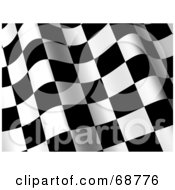 Royalty Free RF Clipart Illustration Of A 3d Wavy Racing Flag Background Version 1 by ShazamImages