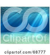 Royalty Free RF Clipart Illustration Of A 3d Underwater Scene With Light Shining Through The Surface by ShazamImages #COLLC68777-0133