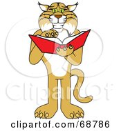 Royalty Free RF Clipart Illustration Of A Bobcat Character by Toons4Biz