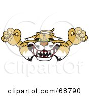 Royalty Free RF Clipart Illustration Of A Bobcat Character Lurching Forward by Toons4Biz