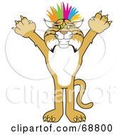 Royalty Free RF Clipart Illustration Of A Bobcat Character Punk by Toons4Biz