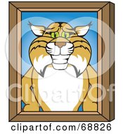 Royalty Free RF Clipart Illustration Of A Bobcat Character Portrait