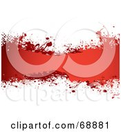 Royalty Free RF Clipart Illustration Of A Red And White Blood Splatter Background Version 1