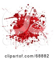 Royalty Free RF Clipart Illustration Of A Red And White Blood Splatter Background Version 2