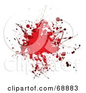 Royalty Free RF Clipart Illustration Of A Red And White Blood Splatter Background Version 5