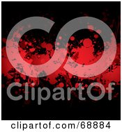 Royalty Free RF Clipart Illustration Of A Red And Black Blood Splatter Background Version 3 by michaeltravers