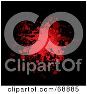 Royalty Free RF Clipart Illustration Of A Red And Black Blood Splatter Background Version 4 by michaeltravers