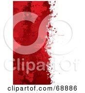 Royalty Free RF Clipart Illustration Of A Red And White Blood Splatter Background Version 4 by michaeltravers