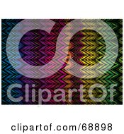 Royalty Free RF Clipart Illustration Of A Background Of Colorful Zig Zag Lines