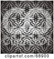 Black And White Silk Floral Pattern Background by michaeltravers