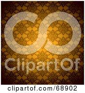 Orange Floral Pattern Background by michaeltravers