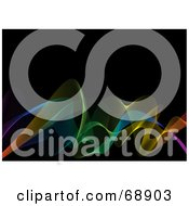 Royalty Free RF Clipart Illustration Of A Rainbow Wave Background
