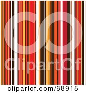 Royalty Free RF Clipart Illustration Of A Background Of Autumn Colored Stripes