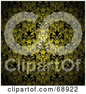 Dark Yellow Floral Pattern Background by michaeltravers