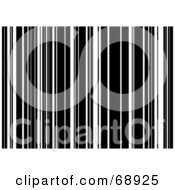 Royalty Free RF Clipart Illustration Of A Background Of Black And White Bar Code Stripes