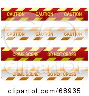 Royalty Free RF Clipart Illustration Of A Digital Collage Of Red Yellow And Orange Crime Scene Tapes