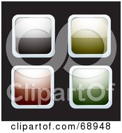 Digital Collage Of Four Shiny Chrome Rimmed Reflective Buttons by michaeltravers