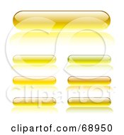 Digital Collage Of Long Rounded Yellow Buttons by michaeltravers