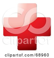 Royalty Free RF Clipart Illustration Of A Shiny 3d Red Cross