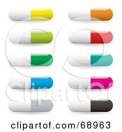 Royalty Free RF Clipart Illustration Of A Digital Collage Of White And Colorful Pills by michaeltravers