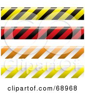 Royalty Free RF Clipart Illustration Of A Digital Collage Of Colorful Warning Tapes by michaeltravers