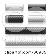 Royalty Free RF Clipart Illustration Of A Digital Collage Of Shiny Gray And Black Toned Web Buttons