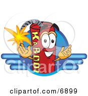 Clipart Picture Of A Red Dynamite Mascot Cartoon Character Logo