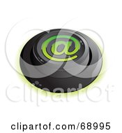 Royalty Free RF Clipart Illustration Of A Black Push Button With An At Symbol