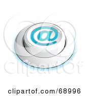 Royalty Free RF Clipart Illustration Of A White Push Button With An At Symbol by beboy