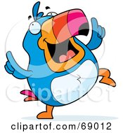 Royalty Free RF Clipart Illustration Of A Happy Dancing Toucan Character by Cory Thoman
