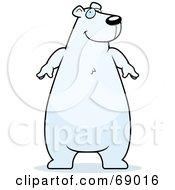 Chubby White Polar Bear Character