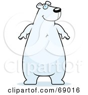 Chubby White Polar Bear Character by Cory Thoman