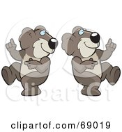 Royalty Free RF Clipart Illustration Of Two Dancing Koalas by Cory Thoman