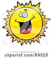 Royalty Free RF Clipart Illustration Of An Excited Sun Character by Cory Thoman