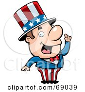 Royalty Free RF Clipart Illustration Of A Creative Uncle Sam With An Idea by Cory Thoman