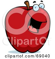 Royalty Free RF Clipart Illustration Of A Happy Red Apple Character