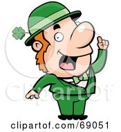 Royalty Free RF Clipart Illustration Of A Smart Leprechaun In Green