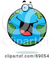 Royalty Free RF Clipart Illustration Of An Excited Earth Character