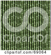 Royalty Free RF Clipart Illustration Of A Green Bamboo Textured Background by Arena Creative