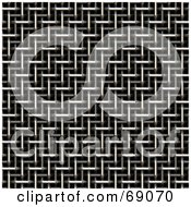 Royalty Free RF Clipart Illustration Of A Metal Chrome Plated Background
