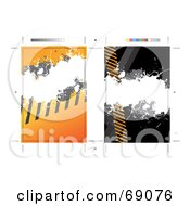 Royalty Free RF Clipart Illustration Of A Postcard Template With Warning Stripes