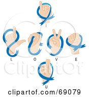 Hands Signaling I Love You In Sign Language