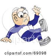 Royalty Free RF Clipart Illustration Of A Senior Man Character Falling by Toons4Biz