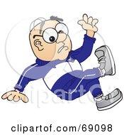 Senior Man Character Falling
