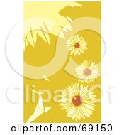 Royalty Free RF Clipart Illustration Of A Background Of Black Eyed Susan Flowers by xunantunich