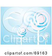 Royalty Free RF Clipart Illustration Of A Pink And Blue Spiral Trees On Blue by xunantunich
